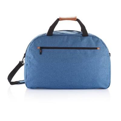Modische Duo Tone Reisetasche PVC frei - blau