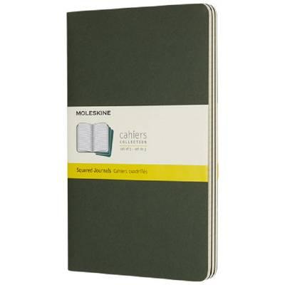 Moleskine Cahier Journal L?kariert-grün