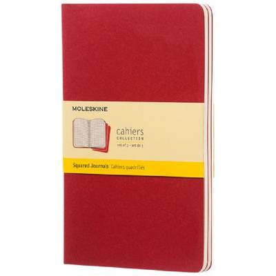 Moleskine Cahier Journal L?kariert-rot
