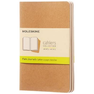 Moleskine Cahier Journal Taschenformat?blanko-braun(hellbraun)