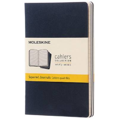 Moleskine Cahier Journal Taschenformat?kariert-blau