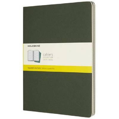 Moleskine Cahier Journal XL?kariert-grün