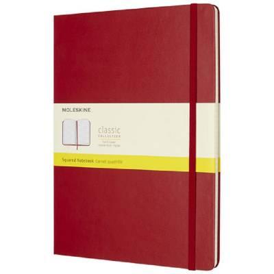 Moleskine Classic Hardcover Notizbuch XL-kariert-rot