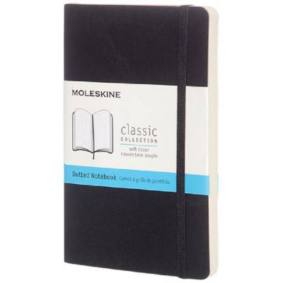 Moleskine Classic Softcover Notizbuch Tachenformat-gepunktet-schwarz