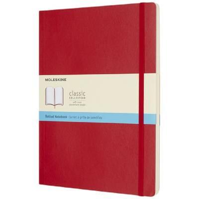 Moleskine Classic Softcover Notizbuch XL-gepunktet-rot