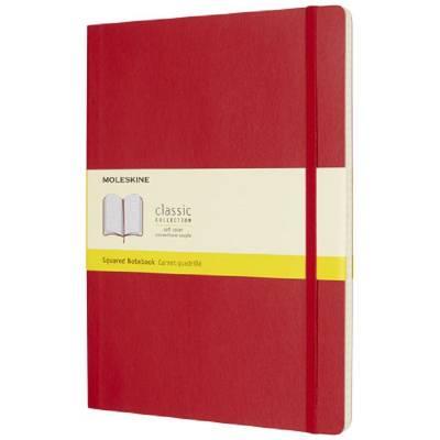 Moleskine Classic Softcover Notizbuch XL-kariert-rot