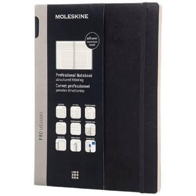 Moleskine Pro Softcover Notizbuch XL-liniert-schwarz