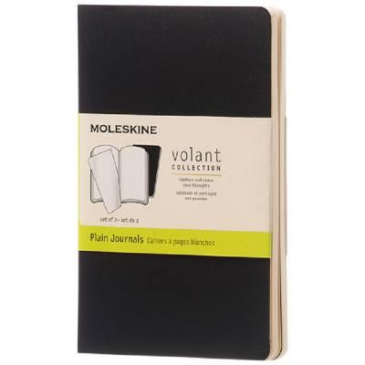 Moleskine Volant Journal Taschenformat?blanko-schwarz