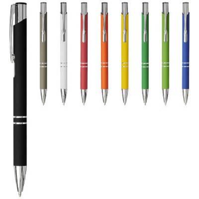 Moneta Soft Touch Druckkugelschreiber-grau(dunkelgrau)-schwarze Mine