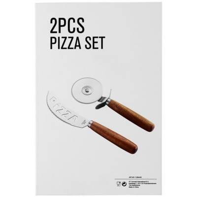 Nantes 2-teiliges Pizzaset-holz