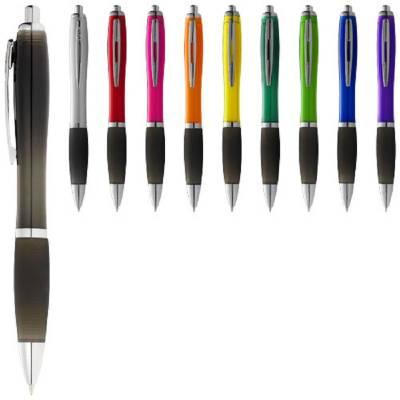 Nash Kugelschreiber farbig mit schwarzem Griff-blau-schwarze Mine