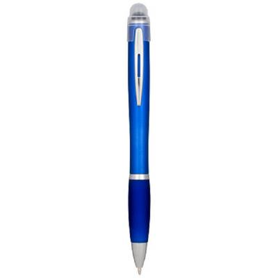 Nash aufleuchtender Stift mit silbernem Gehäuse und farbigem