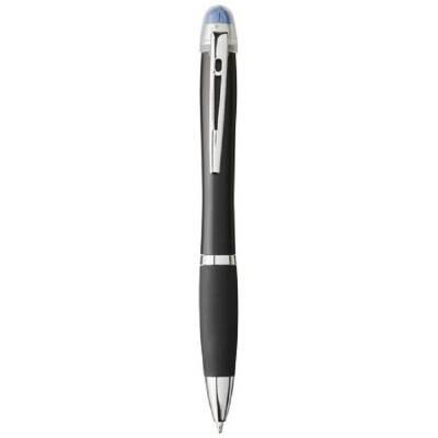 Nash beleuchteter Kugelschreiber mit schwarzem Schaft-blau(royalblau)-blaue Mine