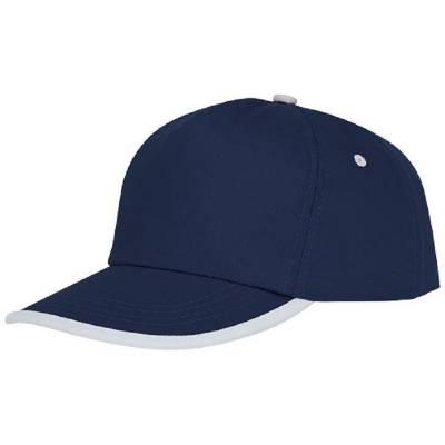 Nestor Cap mit 5 Segmenten und Paspel-blau(navyblau)-one size