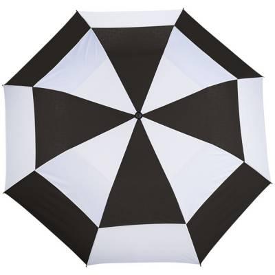 Norwich 30-Zoll-Regenschirm mit Luftöffnungen, 2 Teile, öffn-schwarz