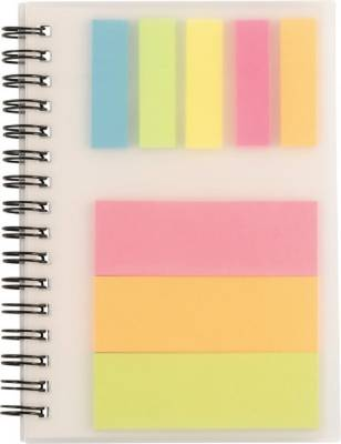 Notizbuch Colours mit Ringbindung und Haftnotizen
