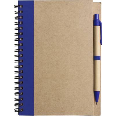 Notizbuch Freak aus Karton-blau