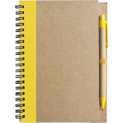 Notizbuch Freak aus Karton-gelb
