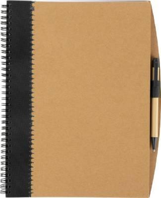 Notizbuch Lyrics aus recycletem Karton mit Stift