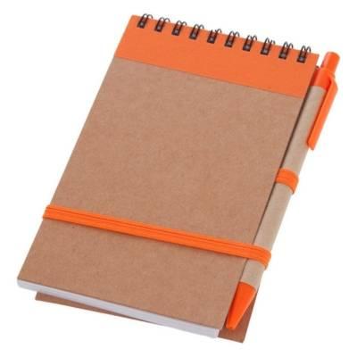 Notizbuch / Notizblock Sierning-orange-blaue Mine-Eigenlager