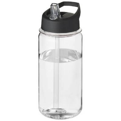 Octave Tritan  ™ 600 ml Sportflasche mit Ausgussdeckel-transparent-schwarz