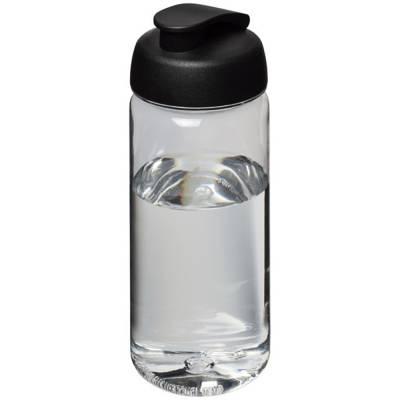 Octave Tritan  ™ 600 ml Sportflasche mit Klappdeckel-schwarz-transparent