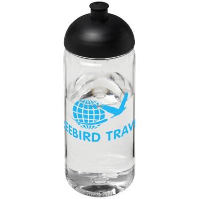 Octave Tritan? 600 ml Sportflasche mit Stülpdeckel-schwarz-transparent