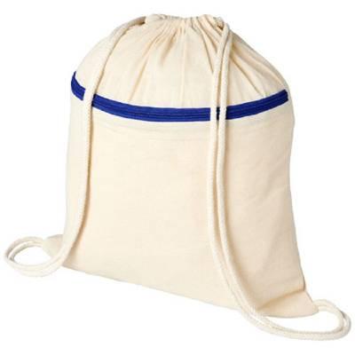 Oregon Rucksack mit Reißverschluss und Kordelzug-blau(royalblau)