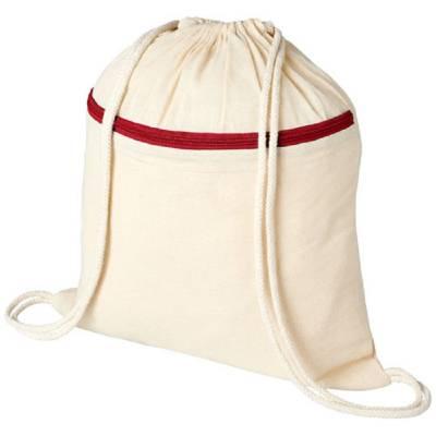 Oregon Rucksack mit Reißverschluss und Kordelzug-rot