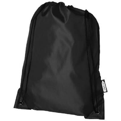 Oriole Kordelzugrucksack aus RPET-schwarz