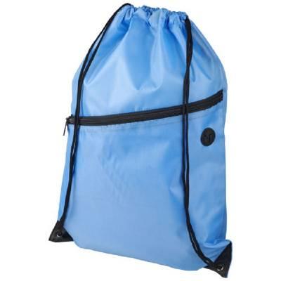 Oriole Rucksack mit Reißverschluss und Kordelzug-blau(hellblau)