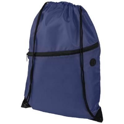 Oriole Rucksack mit Reißverschluss und Kordelzug-blau(navyblau)