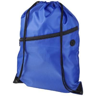 Oriole Rucksack mit Reißverschluss und Kordelzug-blau(royalblau)
