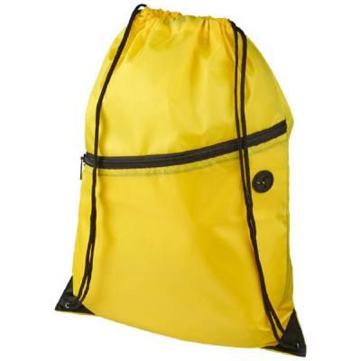 Oriole Rucksack mit Reißverschluss und Kordelzug-gelb
