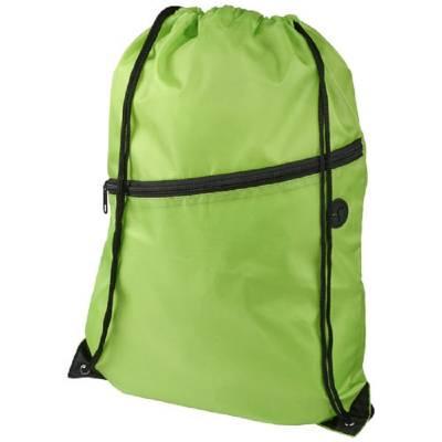 Oriole Rucksack mit Reißverschluss und Kordelzug-grün(limettgrün)