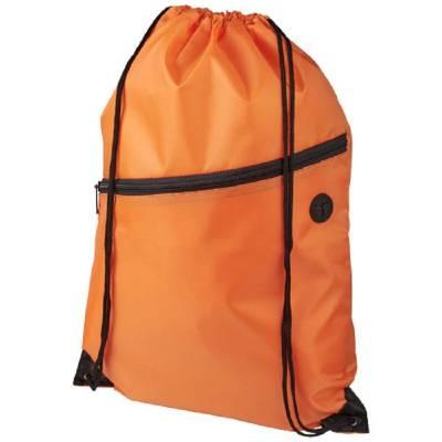 Oriole Rucksack mit Reißverschluss und Kordelzug-orange