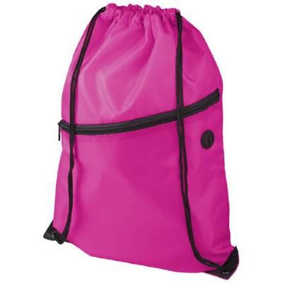 Oriole Rucksack mit Reißverschluss und Kordelzug-pink(magenta)