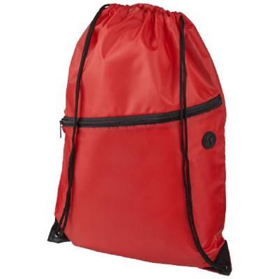 Oriole Rucksack mit Reißverschluss und Kordelzug-rot