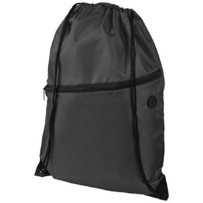 Oriole Rucksack mit Reißverschluss und Kordelzug-schwarz