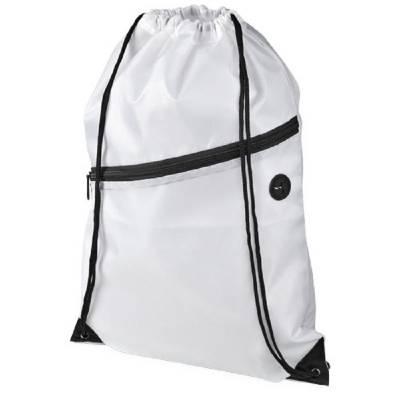 Oriole Rucksack mit Reißverschluss und Kordelzug-weiß