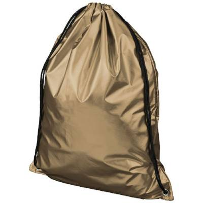 Oriole glänzender Rucksack mit Kordelzug-golden