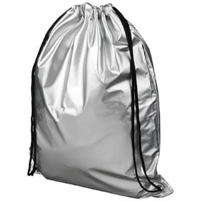 Oriole glänzender Rucksack mit Kordelzug-silber