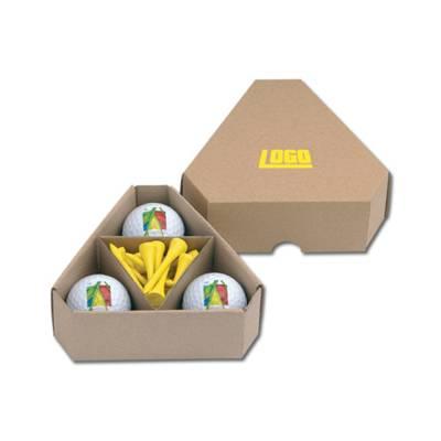 Papierbox für Golfbälle und Tees TRIANGLE