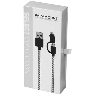 Paramount fabric cable - BK-schwarz
