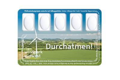 Pfefferminzpastillen in Smart Card
