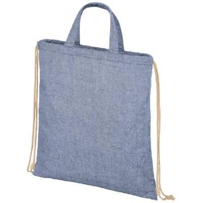 Pheebs 210 g/m² recycelter Rucksack mit Kordelzug-blau