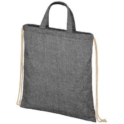 Pheebs 210 g/m² recycelter Rucksack mit Kordelzug-schwarz