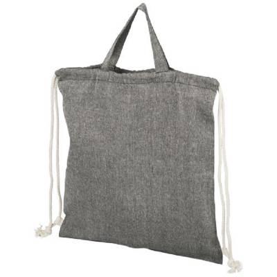 Pheebs Rucksack mit Kordelzug aus recycelter Baumwolle, 150 -schwarz