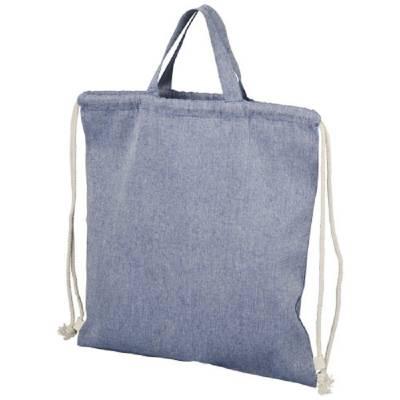 Pheebs Rucksack mit Kordelzug aus recycelter Baumwolle, 150 -blau