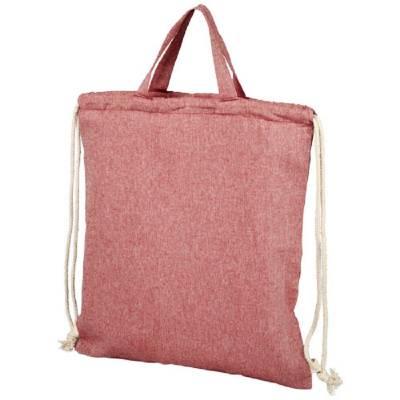 Pheebs Rucksack mit Kordelzug aus recycelter Baumwolle, 150 -rot